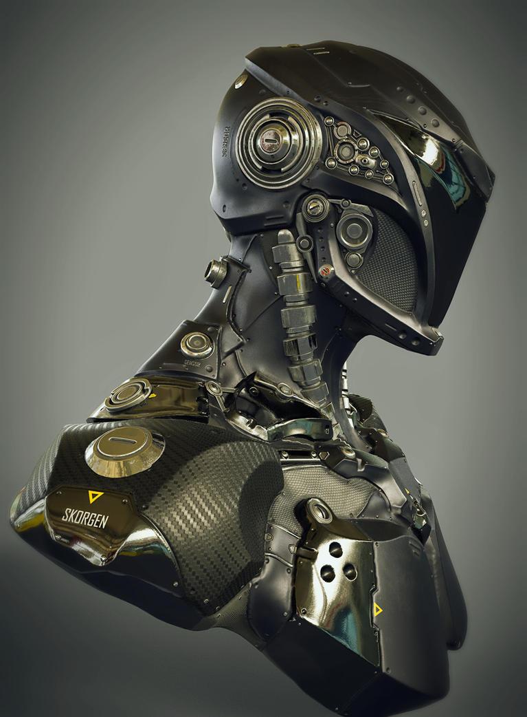 Sci Fi Speedster Bust by Skorg3n