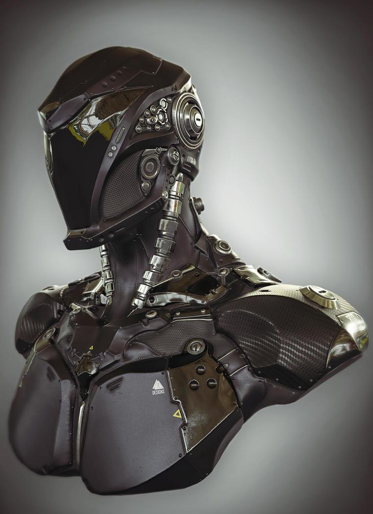 Sci Fi Speedster Bust 1 by Skorg3n