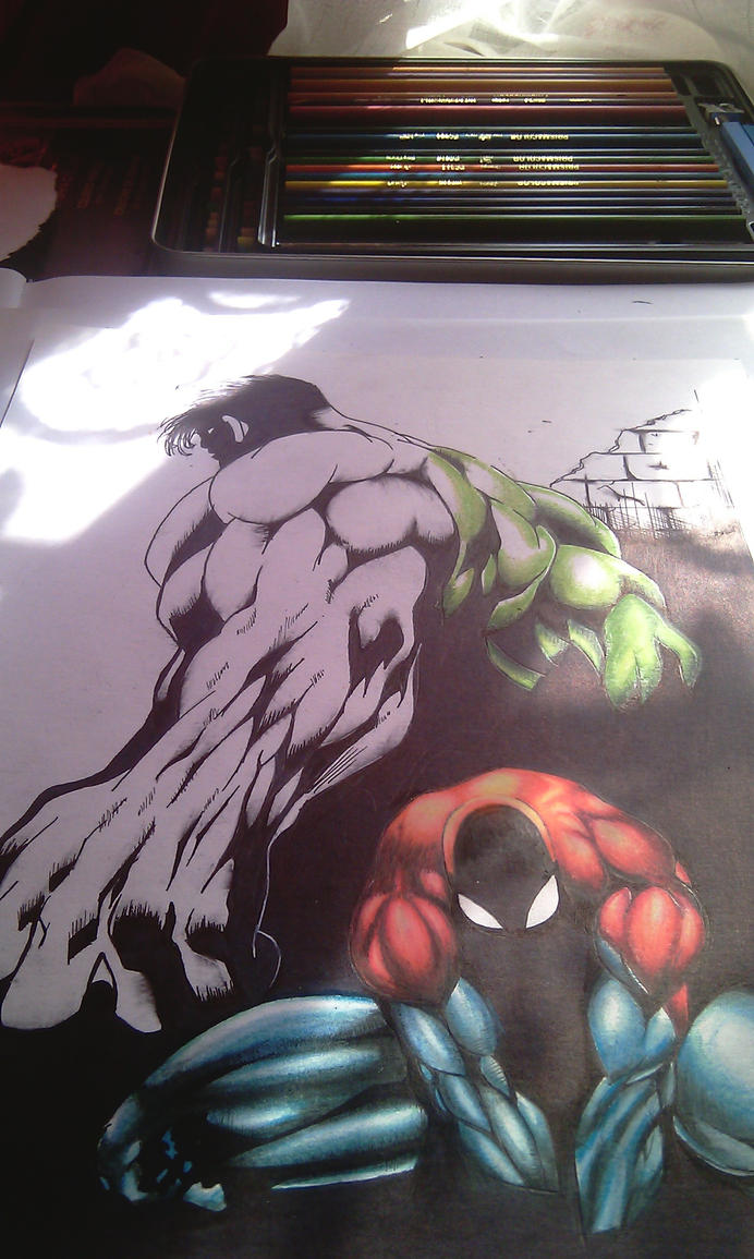 Hulk and Spiderman by Pr0StyleZ