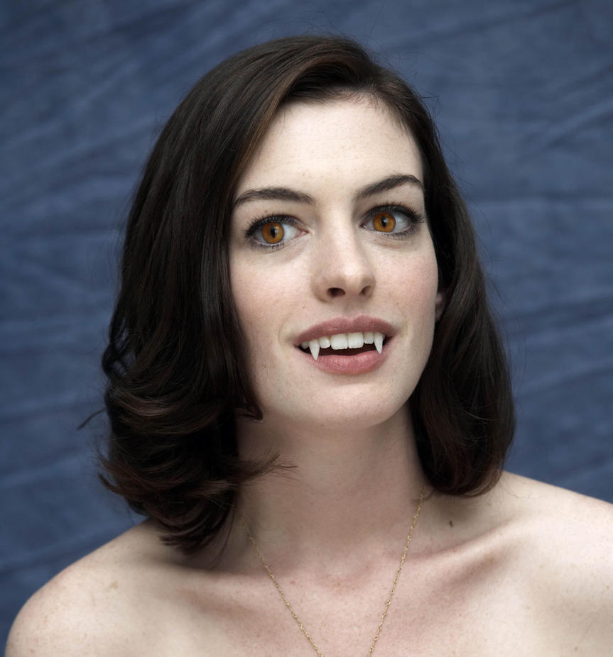 Anne Hathaway Drawing: Vampire Anne Hathaway By TurlyVamp On DeviantArt