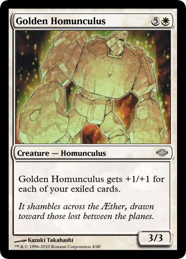 MtG'd Golden Homunculus by eternaldeath09 on DeviantArt