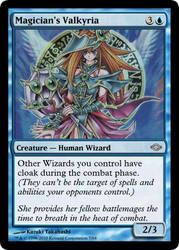 MtG'd Magician's Valkyria by eternaldeath09