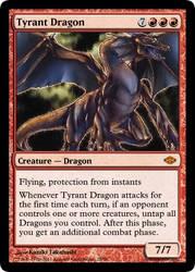 MtG'd Tyrant Dragon by eternaldeath09