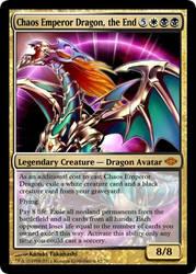 MtG'd Chaos Emperor Dragon by eternaldeath09