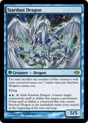 MtG'd Stardust Dragon by eternaldeath09
