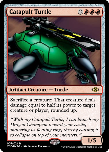 YGO to MtG: Catapult Turtle by eternaldeath09