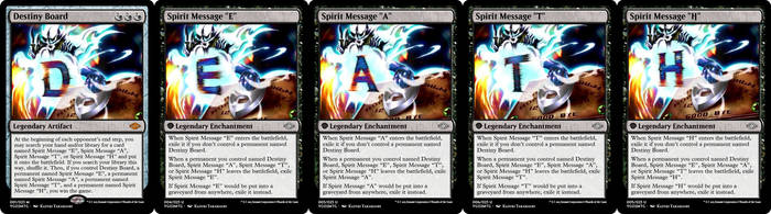 YGO to MtG: Destiny Board/Spirit Messages by eternaldeath09