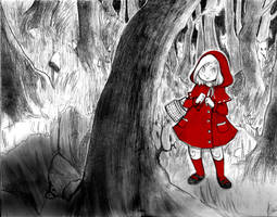 Little red ridding hood by TinaDrawS