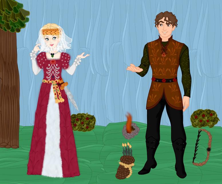 Maid Marian and Robin Hood by kaybay2323