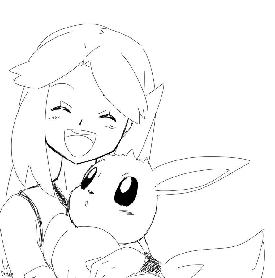 Eeve pokemon free colouring pages for Eevee coloring pages to print