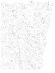 SketchDump 2017 - Gotta Sketch 'Em All by jbwarner86