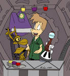 MST3K - Mike and the Bots by jbwarner86