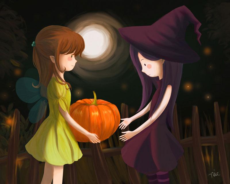Pumpkin Girls by Rinian