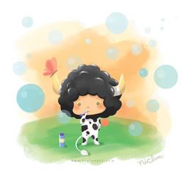 Lambo the Cow by Rinian