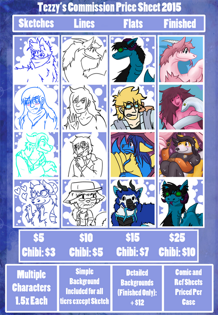 Commission Prices 2015 by Tez-Taylor