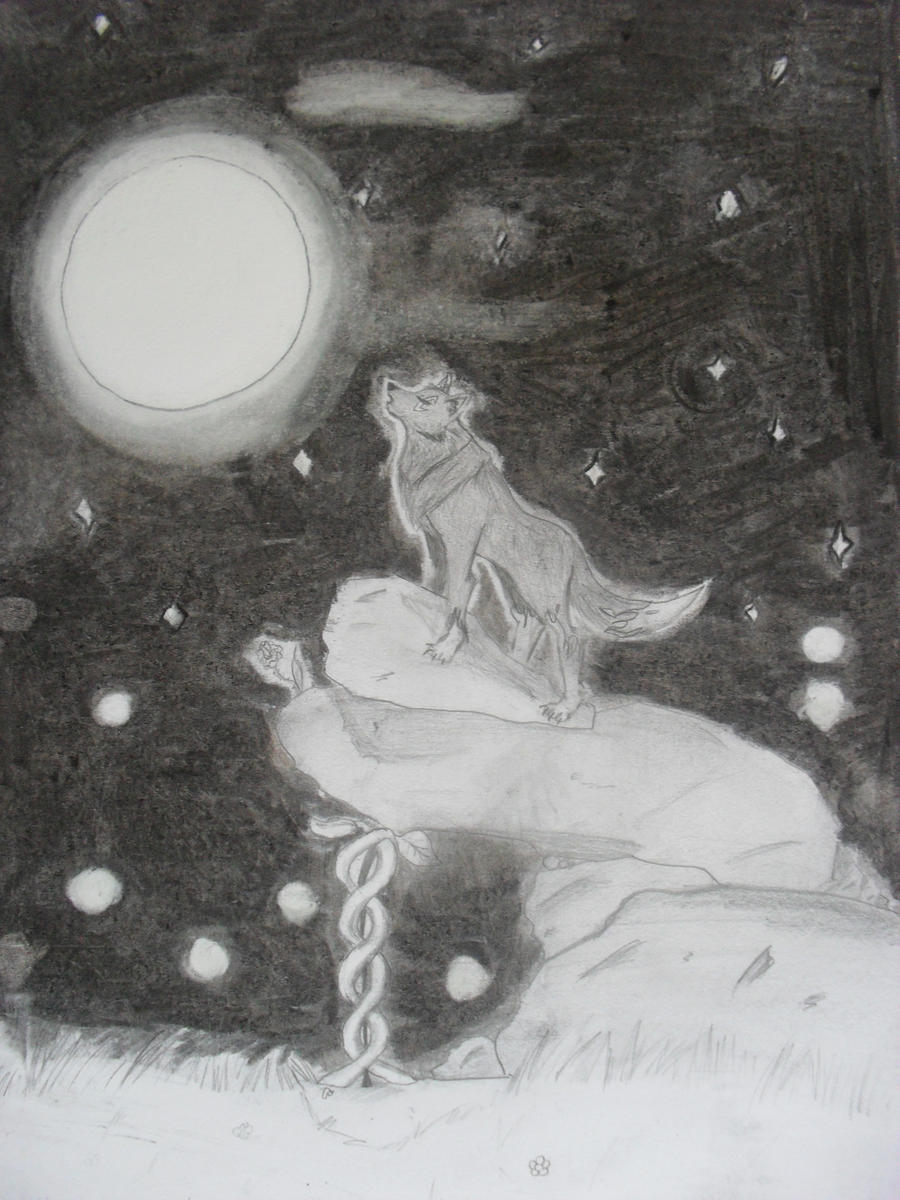 Wolf Howling To The Moon By NagareStar On DeviantArt