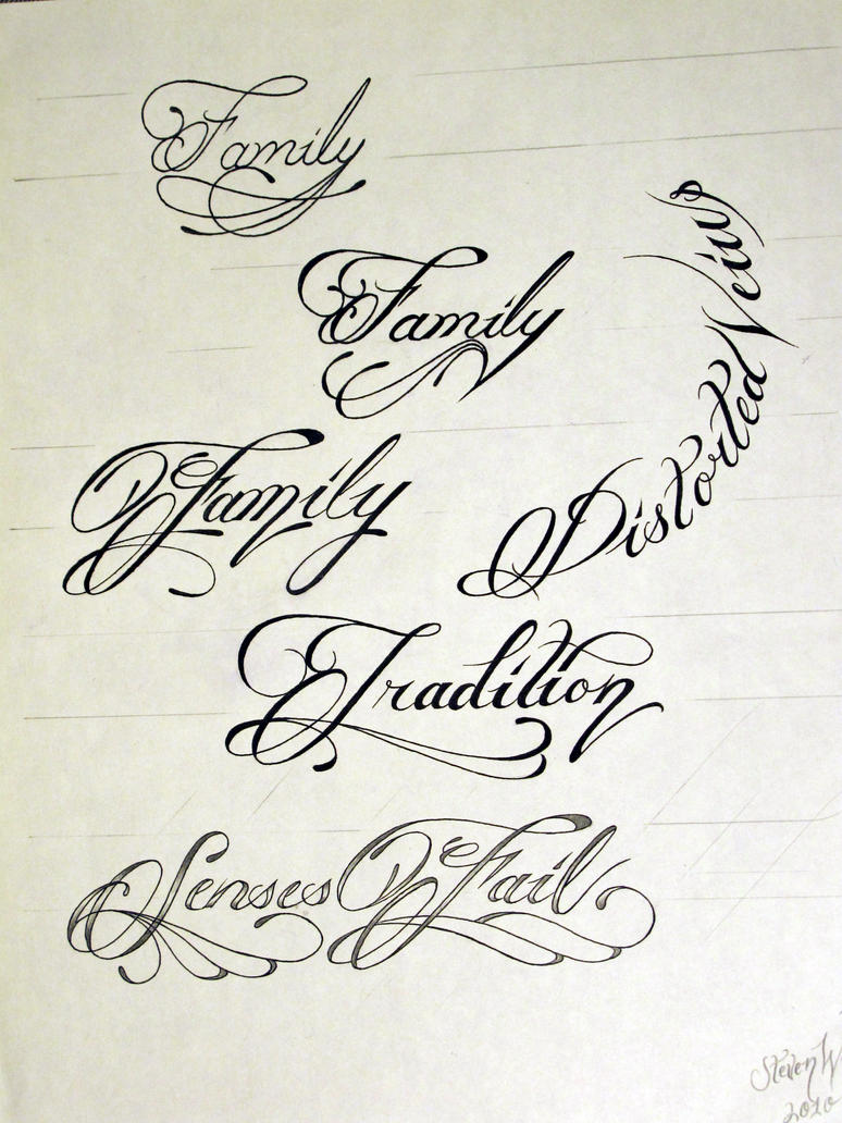Tattoo Script 1 By Stevenworthey On Deviantart