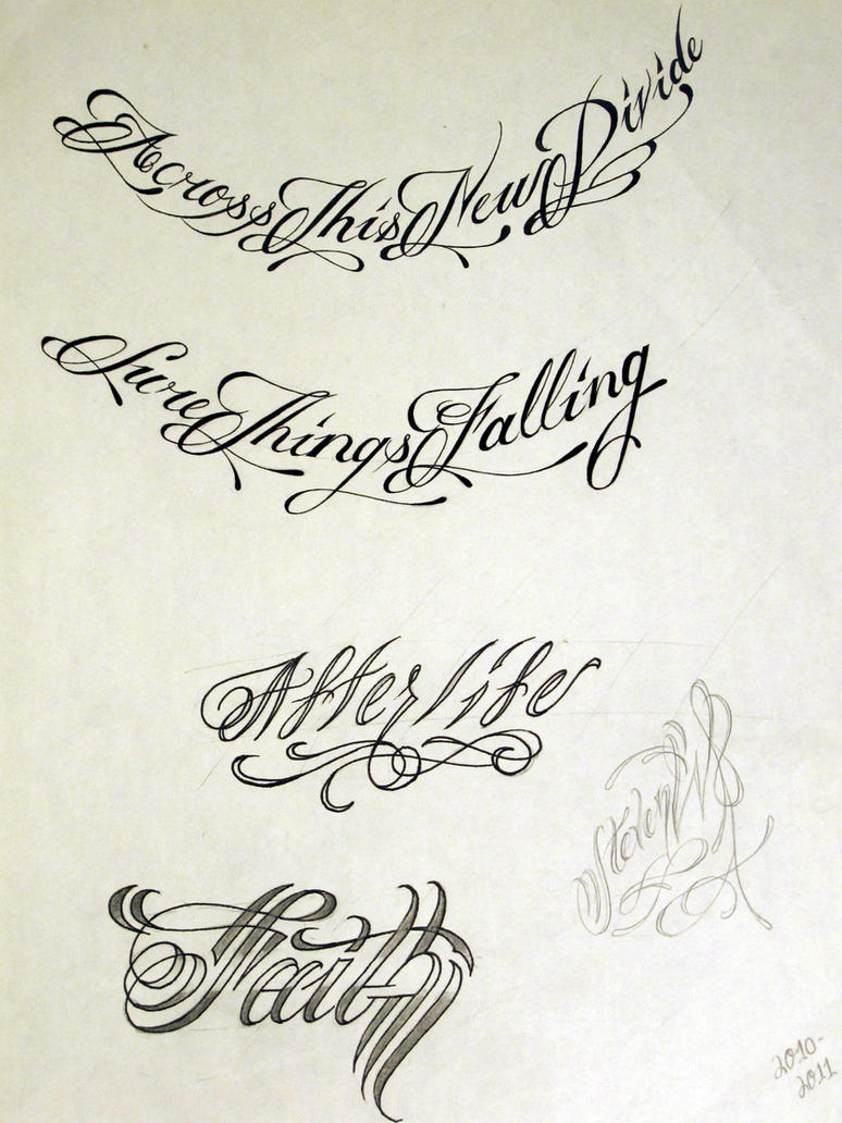 Tattoo script Calligraphy fonts for tattoos