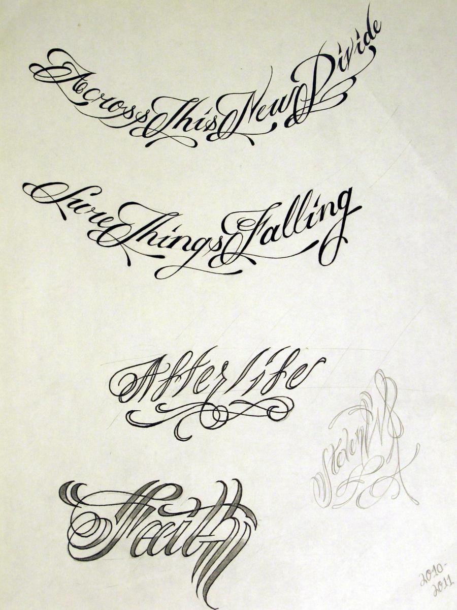 tattoo script 2 by stevenworthey on deviantart. Black Bedroom Furniture Sets. Home Design Ideas