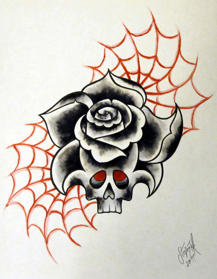 Neo-Traditional Tattoo Rose by StevenWorthey on DeviantArt