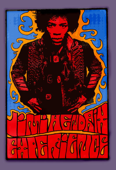 Jimi Hendrix PsychedelicPoster by TheCrawlingKingFlab