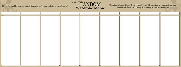 Fandom Wardrobe Meme ~Blank~