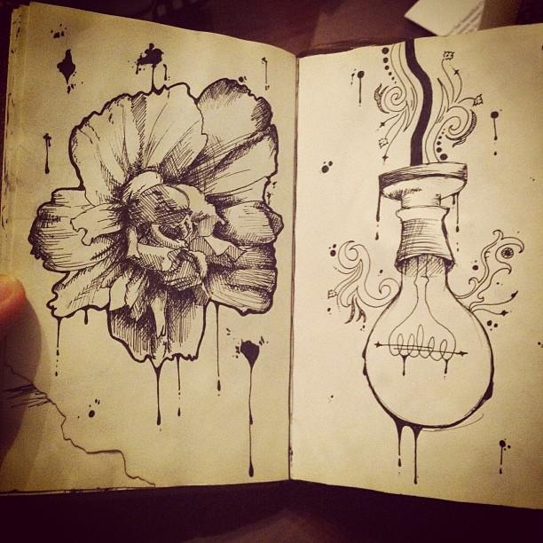 Flower and lightbulb by lolitalolly