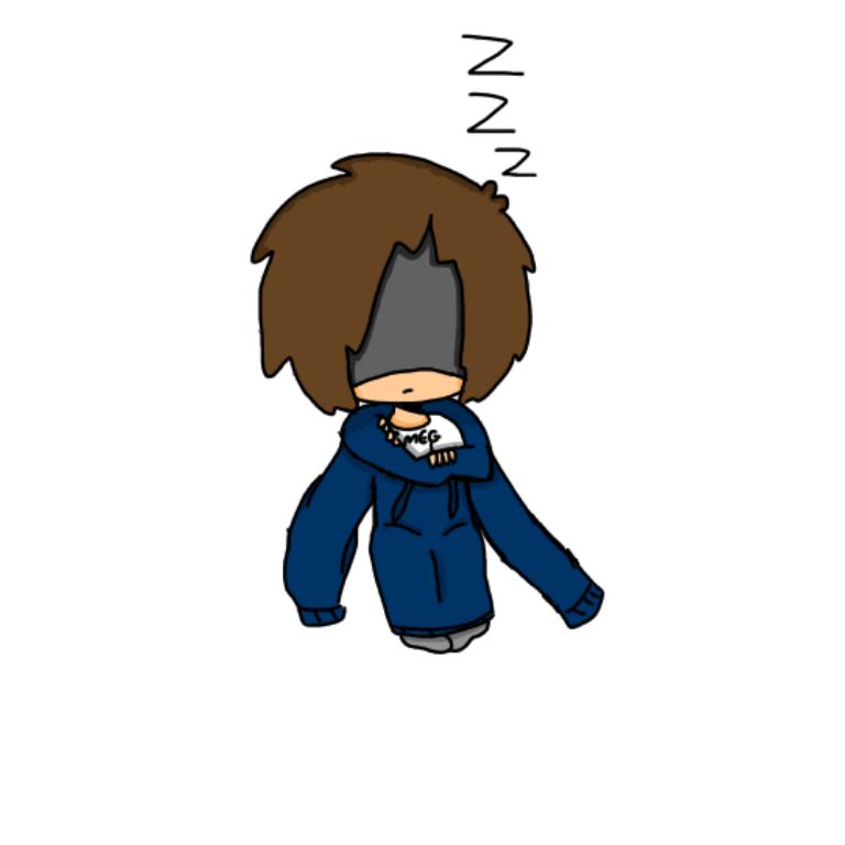 Edd sleeping in Toms hoodie by EddisAWESOME