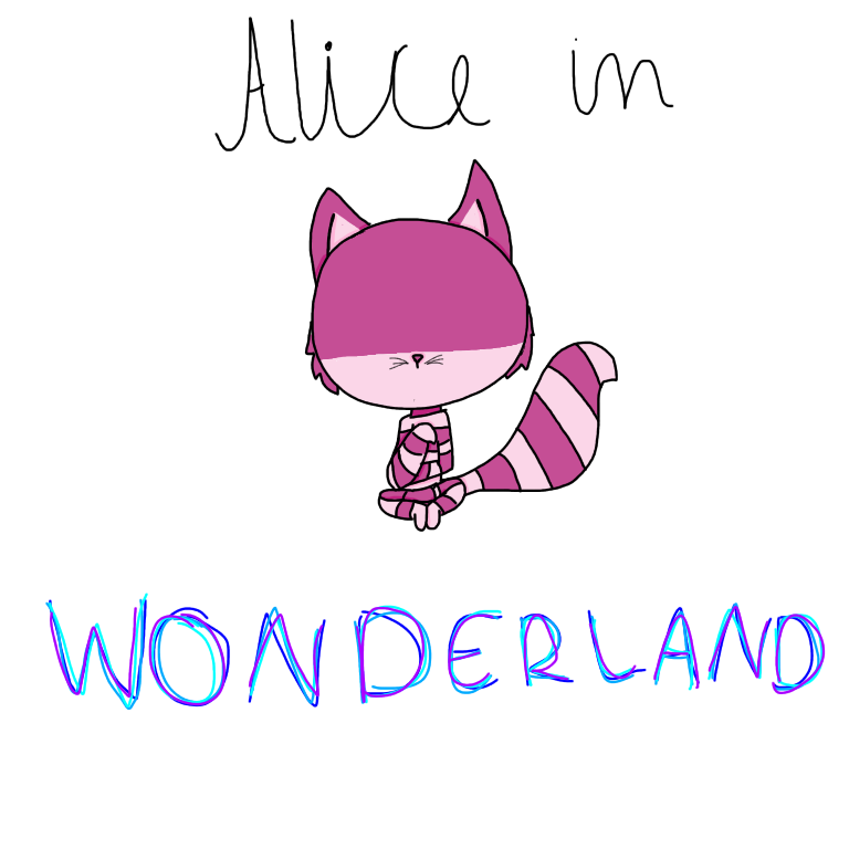 Alice in wonderland ( Cheshire Cat) by EddisAWESOME