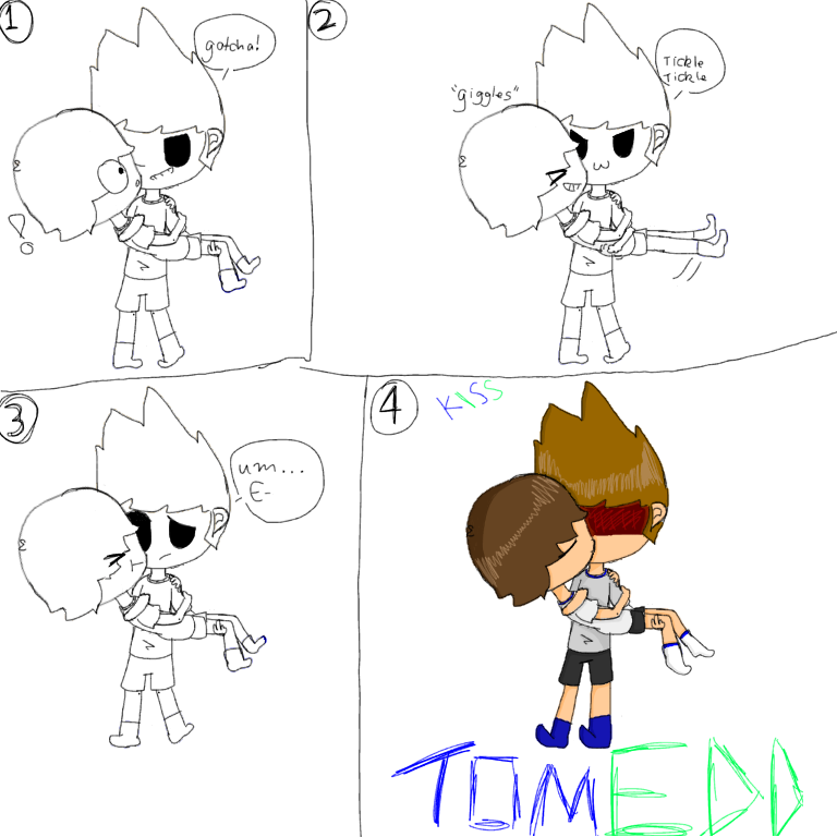 TOMEDD comic:The kiss by EddisAWESOME