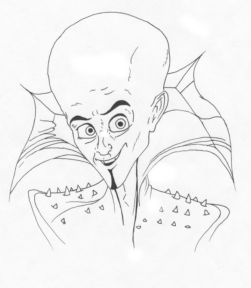 Megamind Pen and Ink by VTWC on DeviantArt