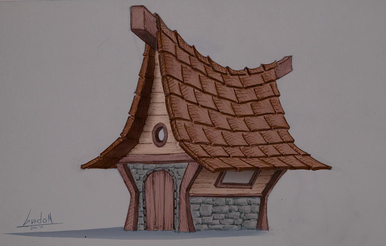 House doodle by Lolzdui