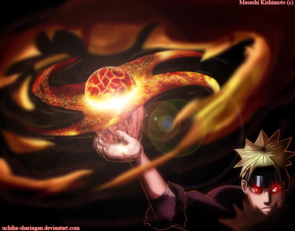 Senpo Yoton Rasen Shuriken - Naruto 673 by uchiha-sharingan