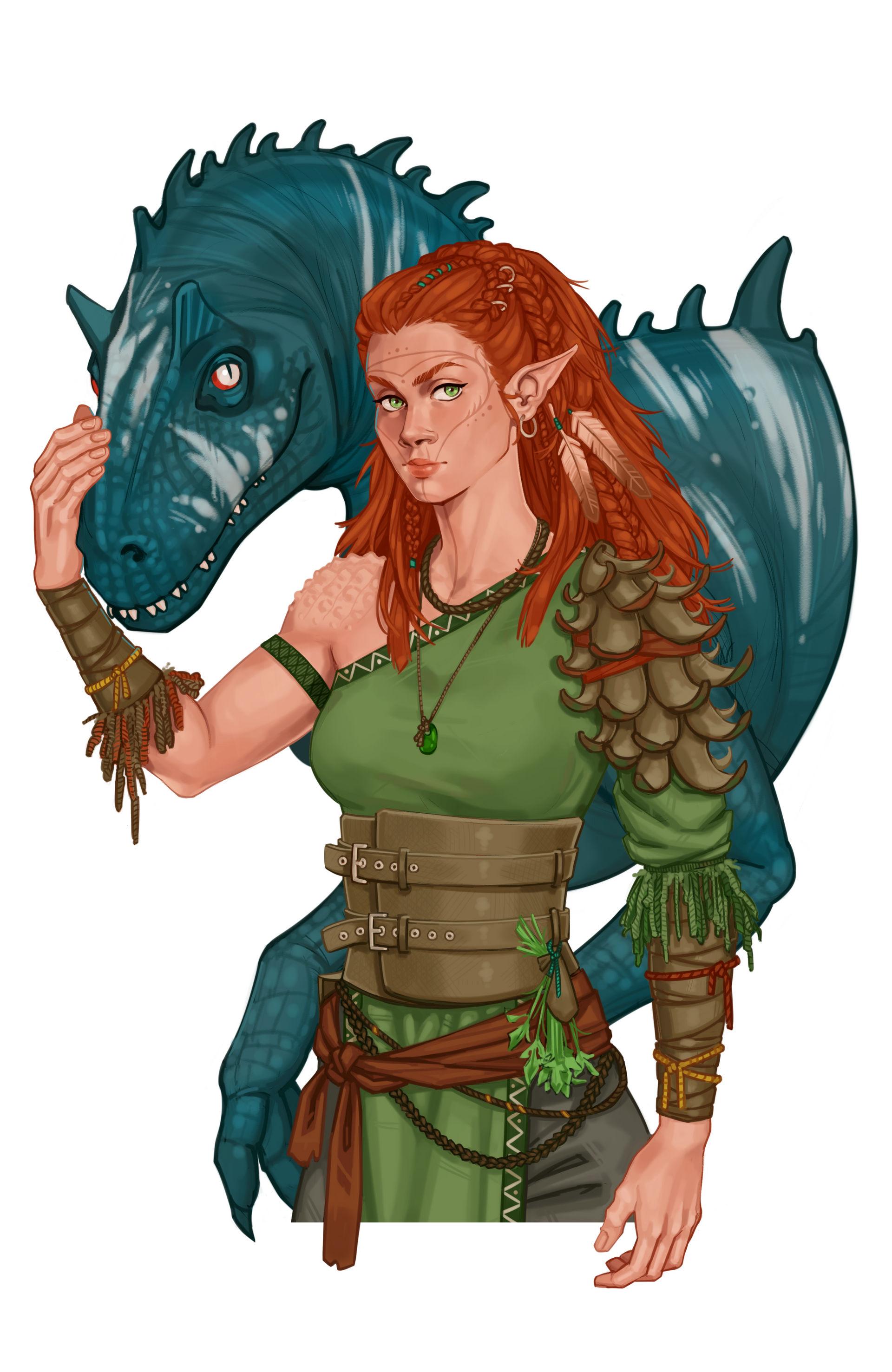 wild elf druid and companion