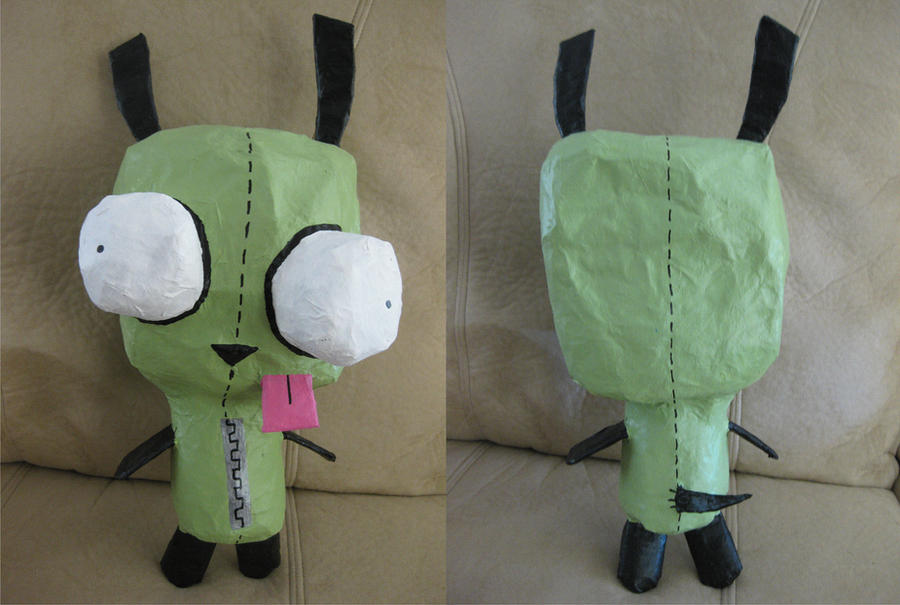 Gir paper mache by coolsockssam on deviantart for Things made out of paper mache