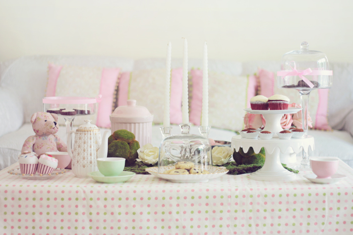 Pink Tea Party by ~aclumsyclover