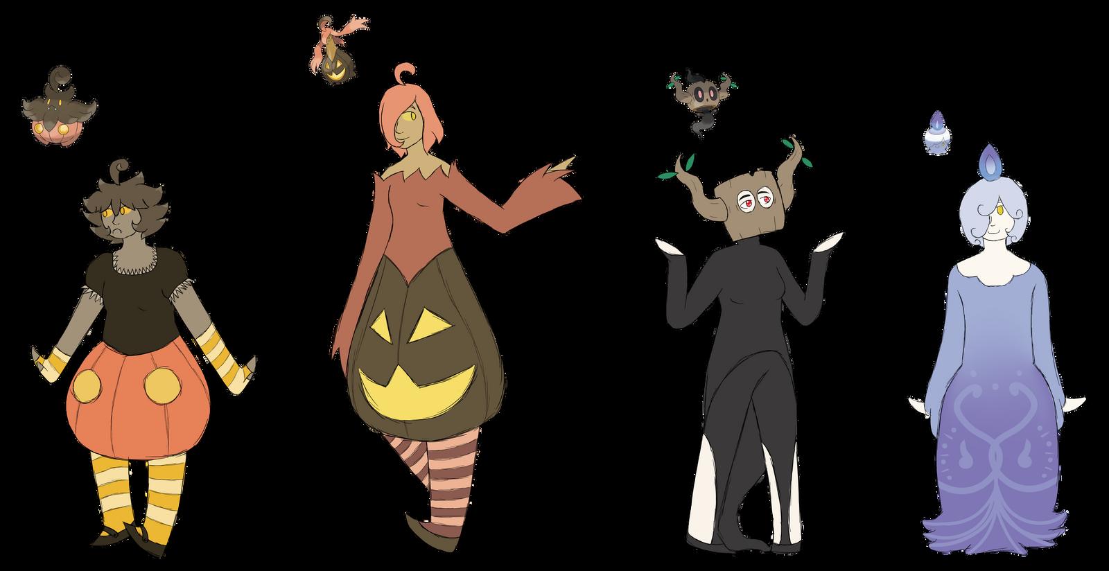 Some Ghost Type Gijinka Designs By Theflyingshark