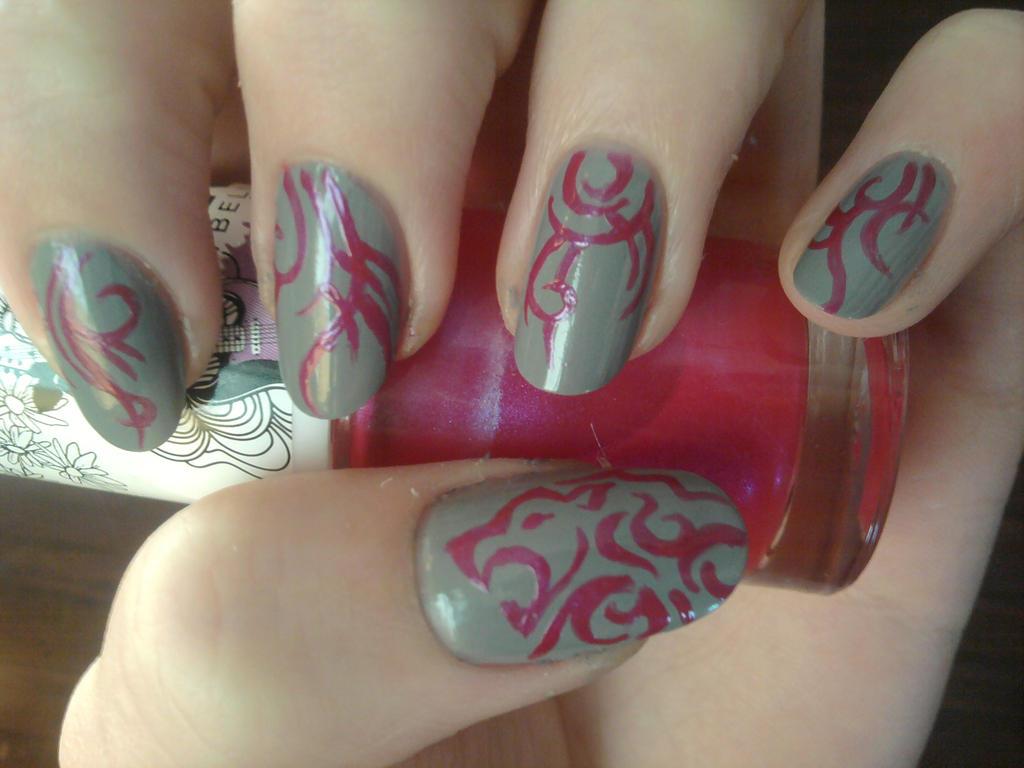 Tribal lion nail art by Vernella on DeviantArt