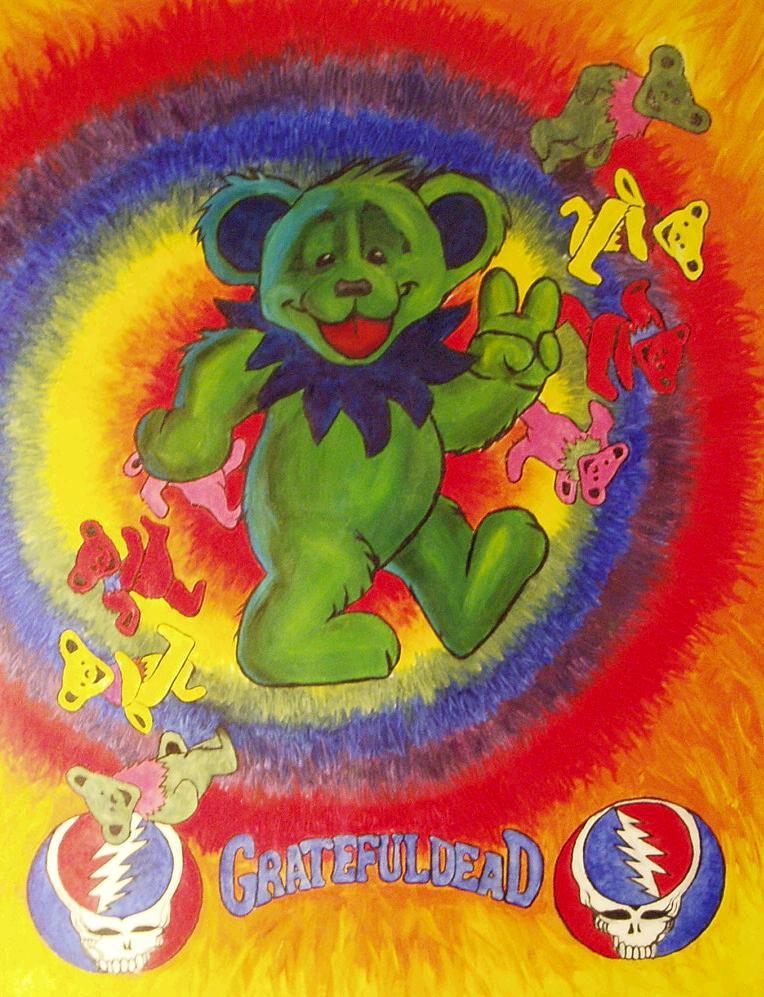 Grateful Dead Bear by evilshenanigans9