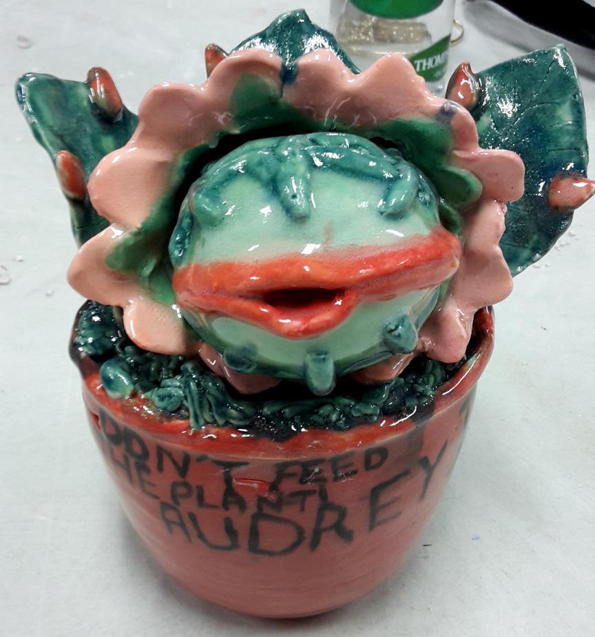 ceramic baby Audrey 2 by AusFurbyMogwaiFan