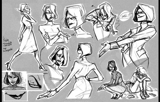 Kate sketches