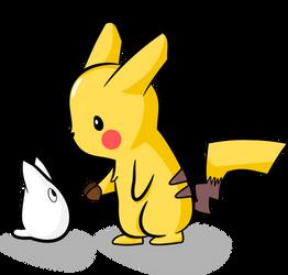 Draw it again - Pikachu and Totoro