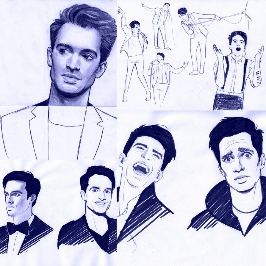 Brendon Urie sketches by DameALana