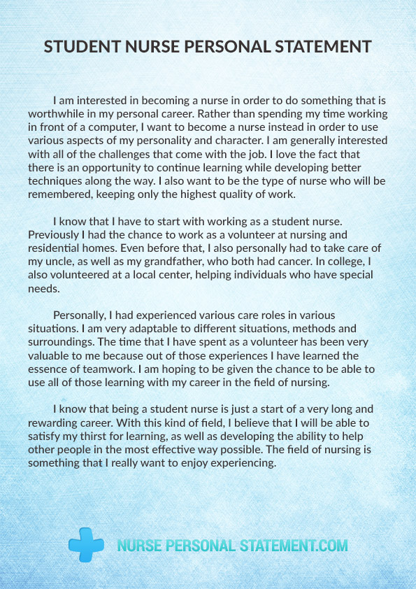Student personal statement