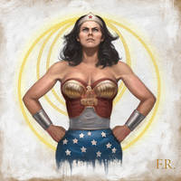 Wonder Woman-fan art by FrankVenice