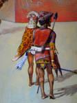 Two Nasca Warriors, Peru, South Coast, AD 600