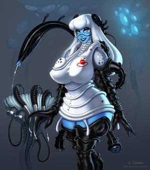 Astra, alien nurse from space (OC)
