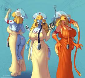 Robo nurses OC concept (dressed ver.)