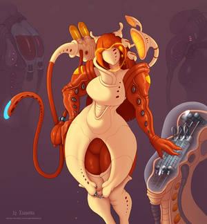 Alien nurse OC design