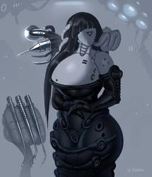 Era, alien nurse (speedpaint ) by Xianetta